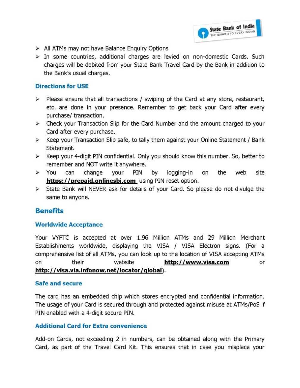 Sbi Prepaid Forex Card -
