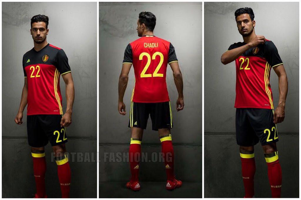 Belgium EURO 2016 adidas Home Kit | FOOTBALL FASHION.ORG
