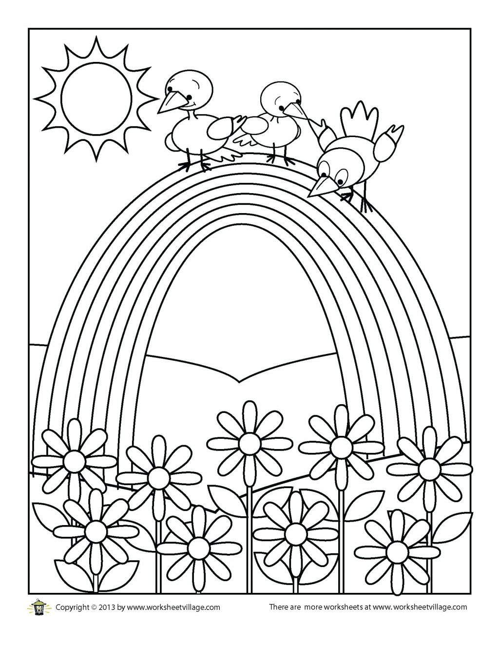 Rainbow Coloring Pages For Adults at GetColorings.com ...