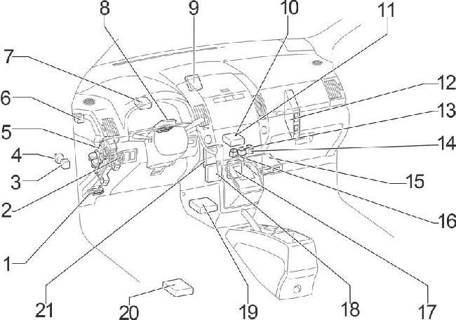 04 09 Toyota Corolla Verso Ar10 Fuse Diagram