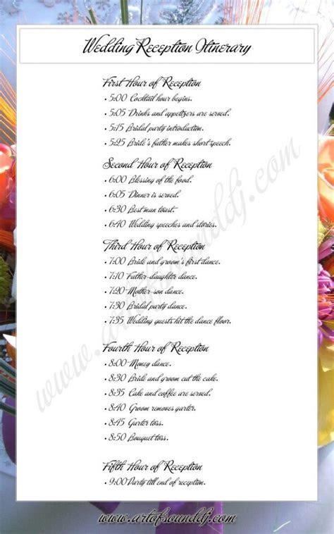 Wedding Ceremony Itinerary Bridal Parties   wedding ideas