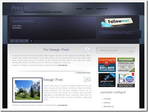 SilverstarBloggerTemplate thumb