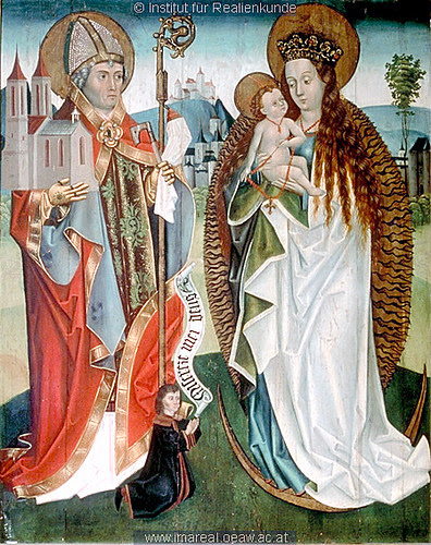 Virgin & child with St. Wolfgang of Ratisbon