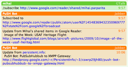PuSH Bot Screenshot