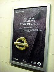 100 years 100 Artists poster at Turnham Green