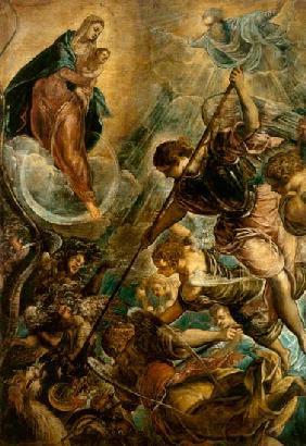 Tintoretto (eigentl. Jacopo Robusti) : Kampf des Erzengels Michae...