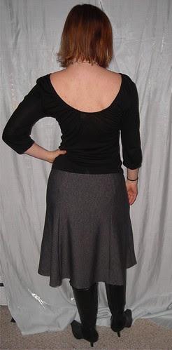 Gray Skirt Back