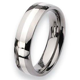 Titanium or platinum wedding rings