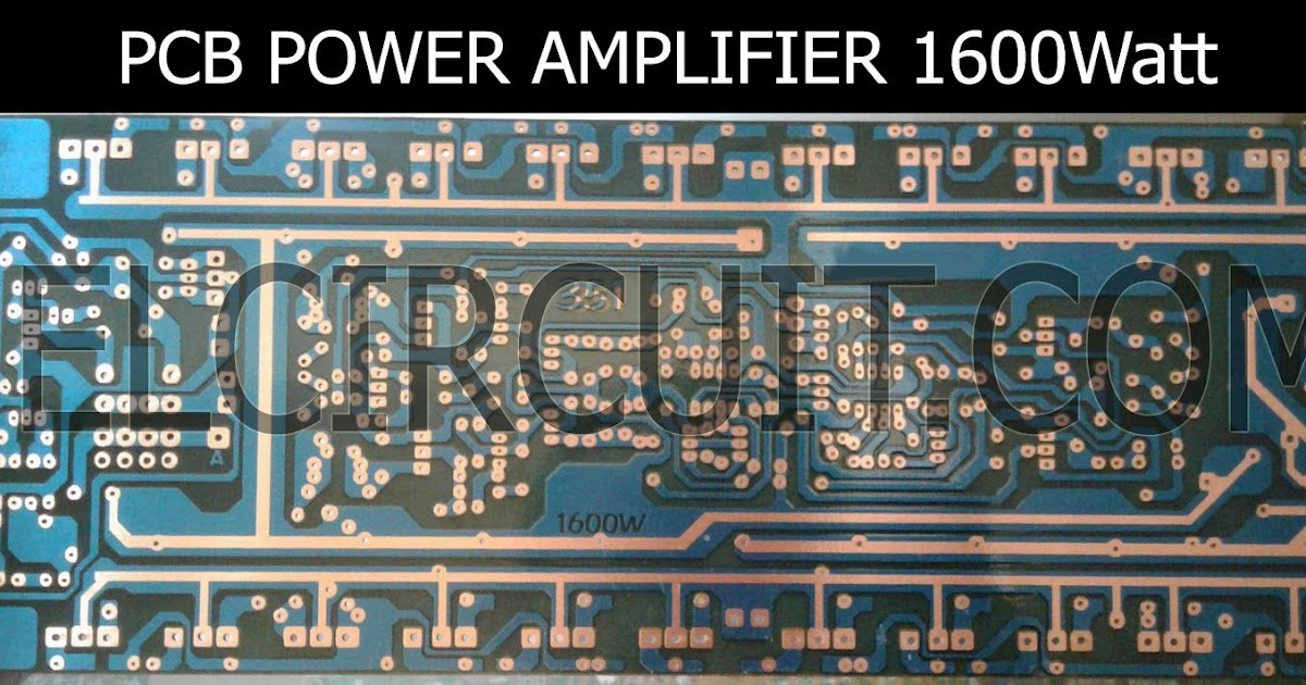 Layout Pcb Power Audio Pro