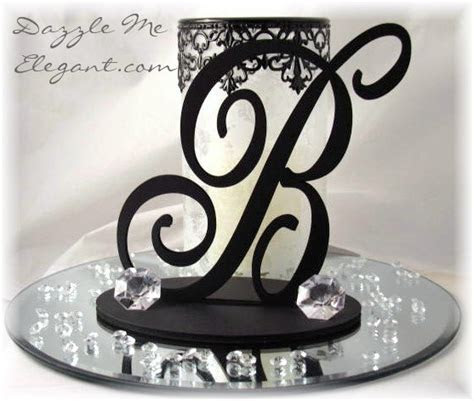 Wedding Centerpieces   Elegant Script Table Decorations