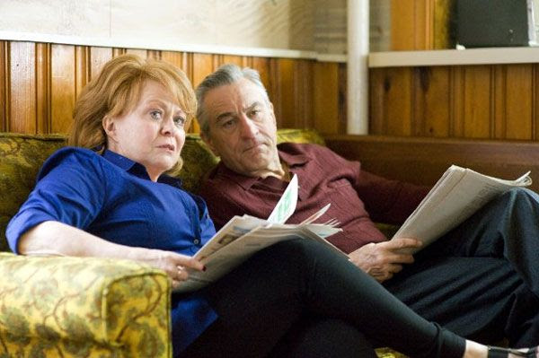 Pat Sr. (Robert De Niro) and Dolores (Jacki Weaver) have to deal with their son's wild mood swings in SILVER LININGS PLAYBOOK.