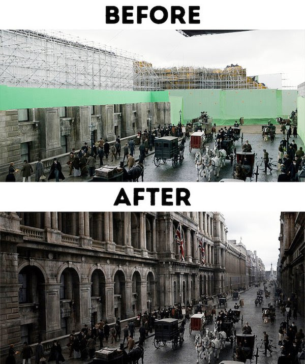 14 - 30 before and after special effects scenes