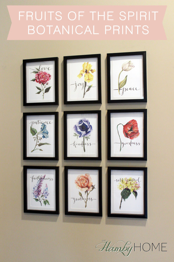 Fruits Of The Spirit Gallery Wall The Hamby Home