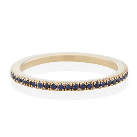 Midnight Pavé Band with Blue Sapphires   Vale Jewelry