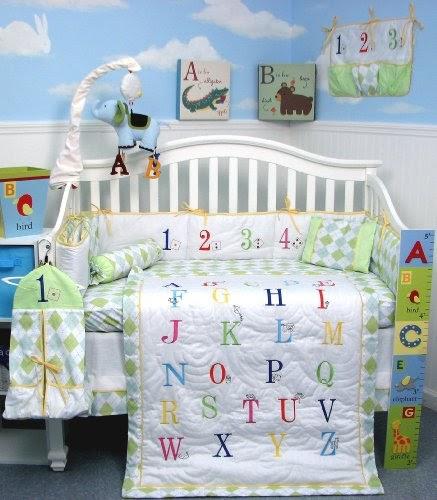 Soho A To Z Alphabet Baby Infant Crib Nursery Bedding Set