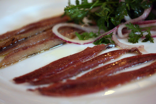Anchovies smoked and salted