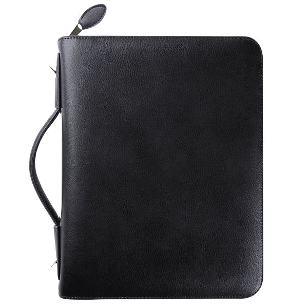 """Day-Timer Armorhide Leather Zippered 1 1/2"""" Planner Cover Desk ..."""
