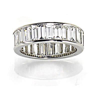 Eternity rings   large baguette diamond eternity ring