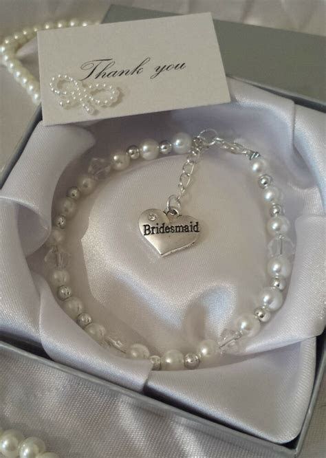 PERFECT THANK YOU GIFT CHARM BRACELET WEDDING BRIDESMAID