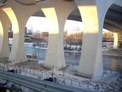 Underneath I35W Bridge over Mississippi