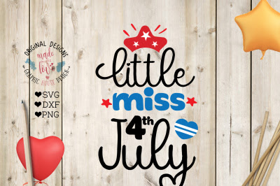 Download Little Miss 4th July Cut File Free