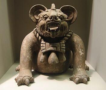 Zoomorphic Zapotec Funerary Urn (Source: WikiMedia)