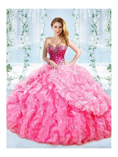 Beautiful Boning Big Puffy Detachable Quinceanera Dress