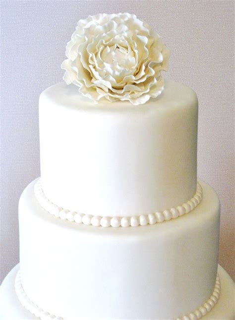 Three Tier Fondant Wedding Cake Fake Wedding Cake Faux