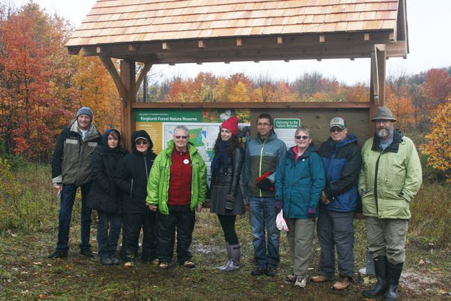 Members of the Kinghurst Field Naturalists during the group's dedication ceremonies in October.