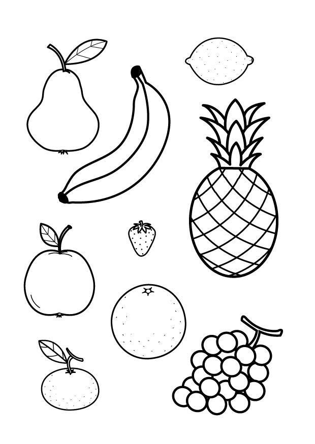 Meyveler ücretsiz Boyama Resimleri