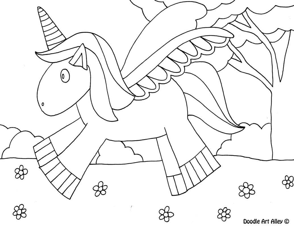 Mythical Creatures Coloring pages - Doodle Art Alley