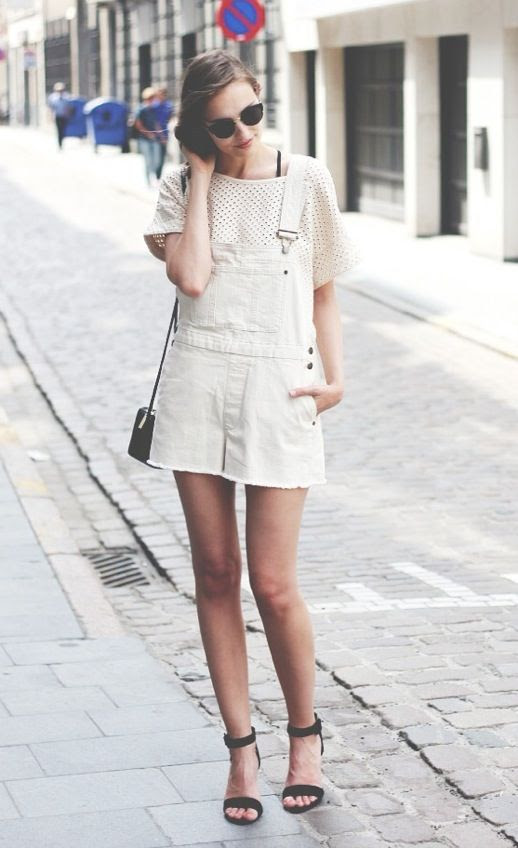 Le Fashion Short Overalls Dungarees Grown Up Chic