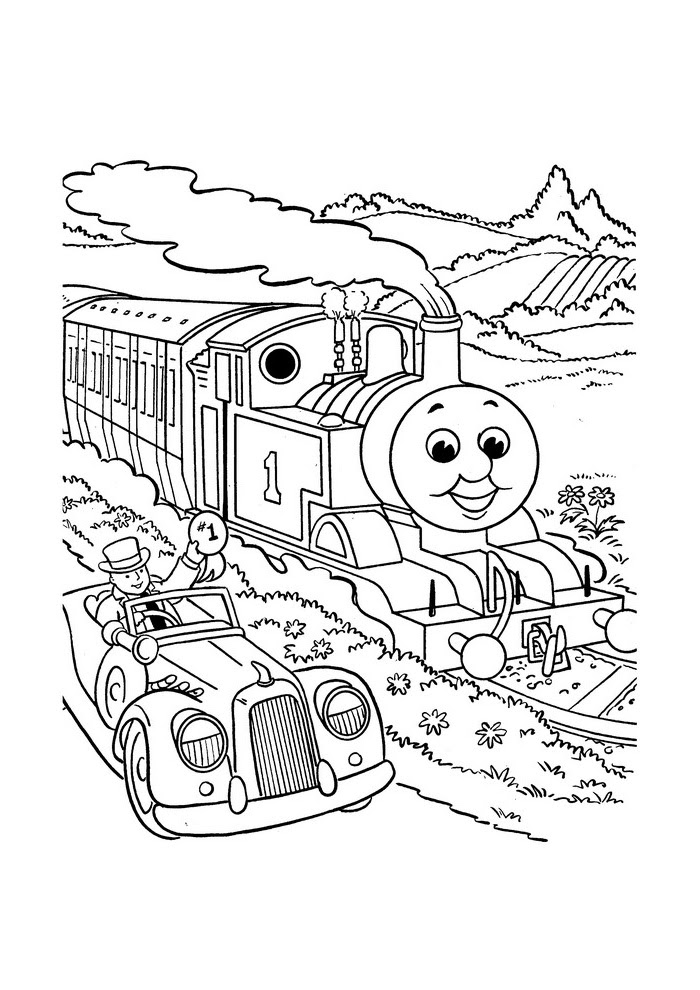 kleurplaten de trein kleurplaat