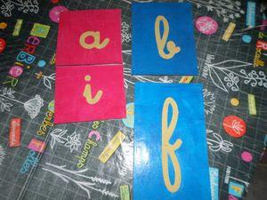 Les lettres rugueuses Montessori
