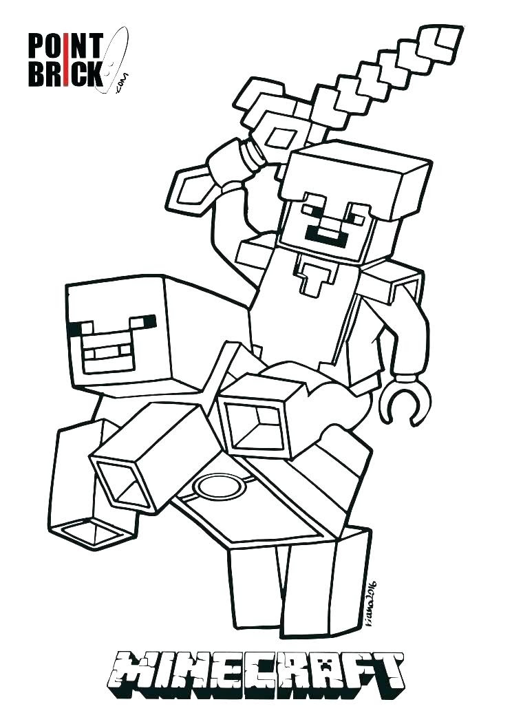 Minecraft Coloring Pages Herobrine at GetColorings.com ...