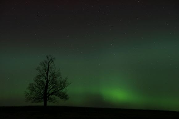 Aurora on St. Patrick's Day night, seen west of Keene, Ontario, Canada at about 10:00 p.m. EDST. Credit and copyright: Rick Stankiewicz