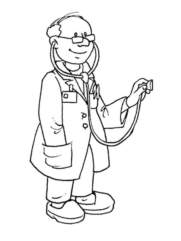 coloring page Professions Kids-n-Fun