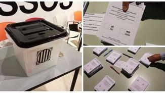 Les urnes arriben als llocs de votació