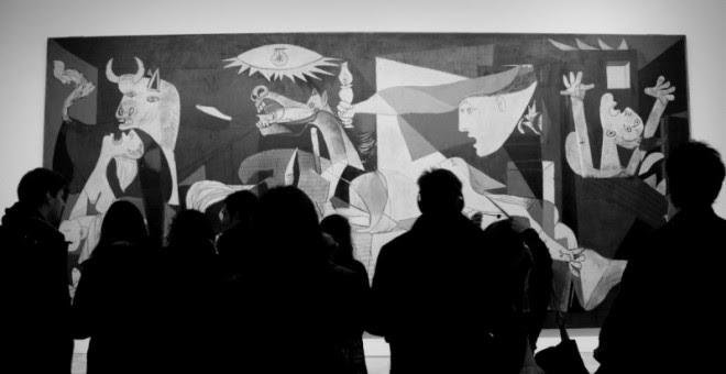El Guernica, colgado en la pared del Museo Reina Sofía. - PEDRO BELLEZA