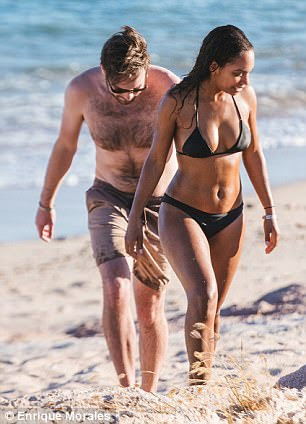 Exclusive: Their two-bedroom villa came with their own private beach, where they enjoyed their alone romantic time