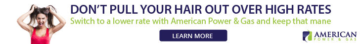 Don't pull out your hair over high rates. Switch to American Power and Gas