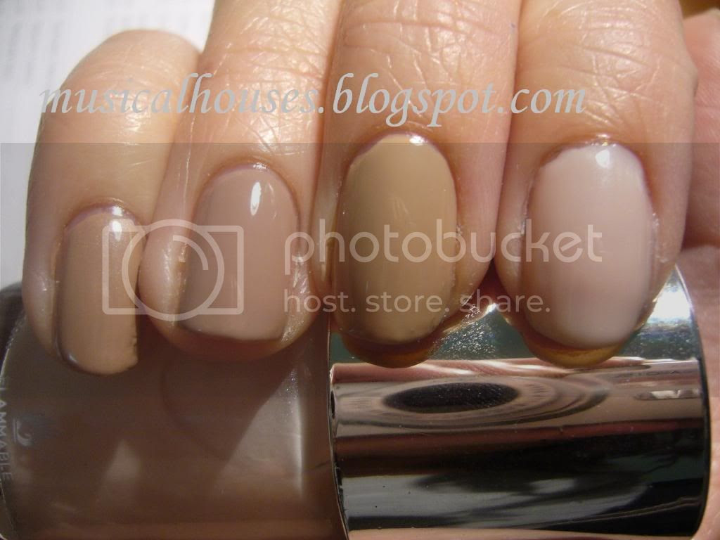 Nude nail polishes comparison