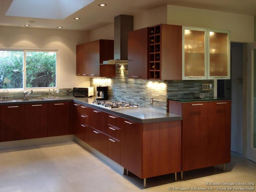 Tile Backsplash Ideas For Cherry Wood Cabinets Modern Home Design And Decor