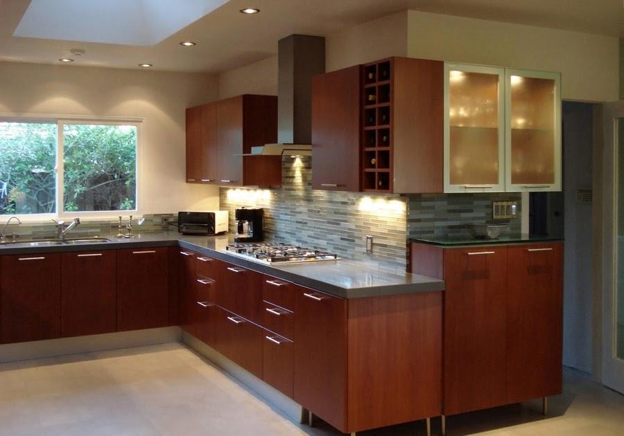 Kitchen Backsplash Ideas With Cherry Cabinets - Home ...