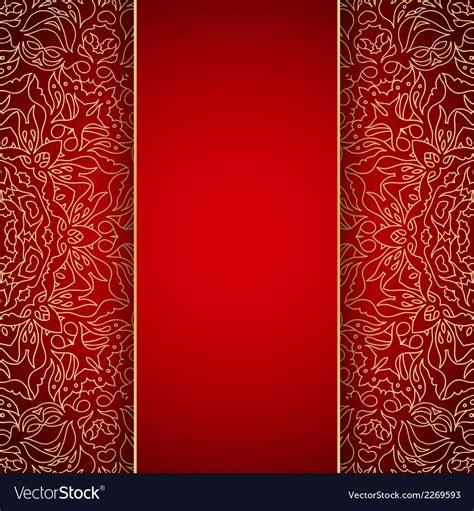 elegant background  gold lace ornament vector image