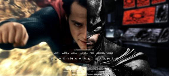Fan-art banner de la película de Batman y Superman (2015)