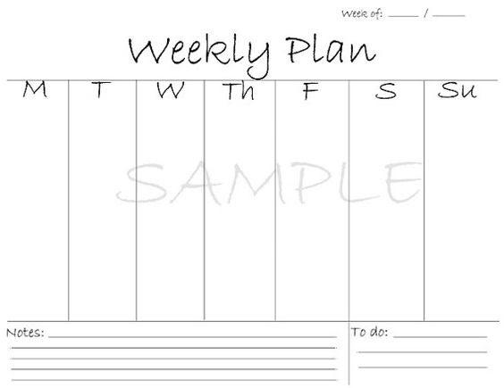 Printable Weekly Planner / Printable Planner / Meal planner ...