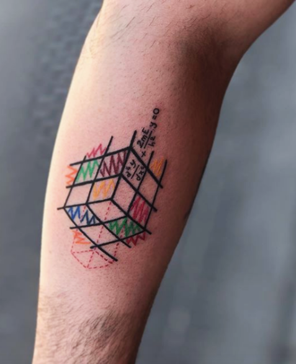 38 Small Math and Grammar Tattoo Designs with Deep