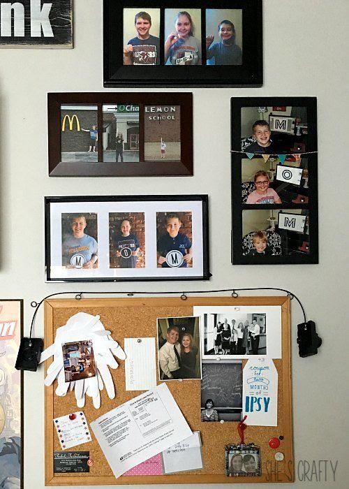 photo gallery, cork board