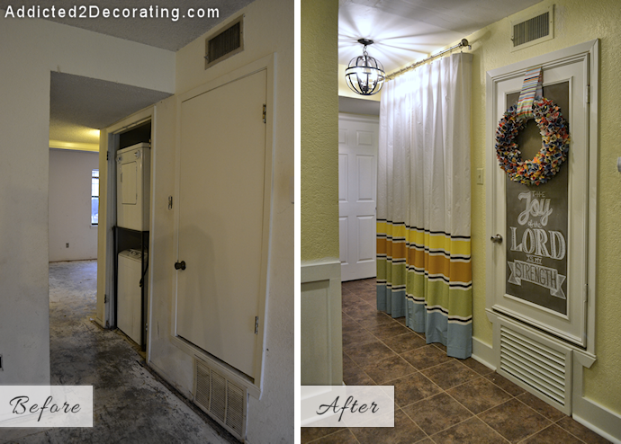My Small Condo Laundry Room (a.k.a. Hallway Makeover) Before & After